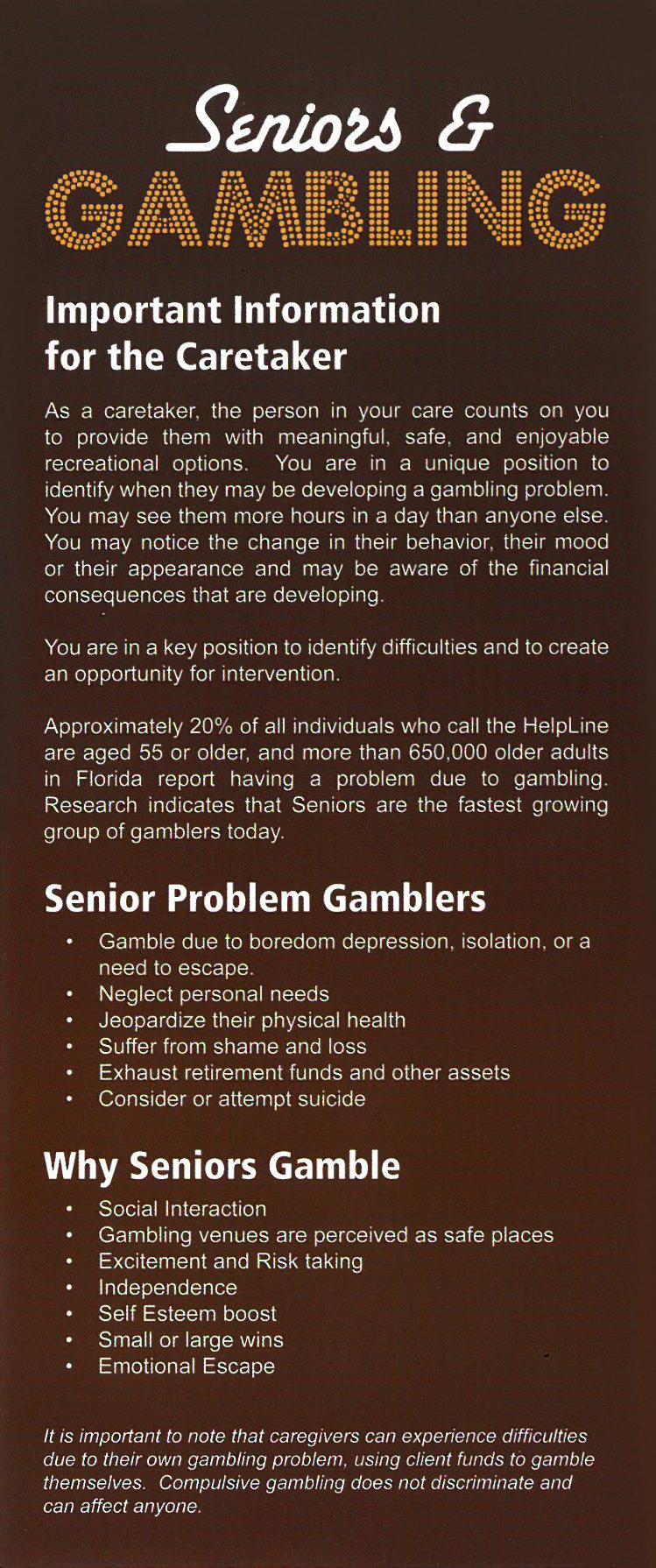[IMAGE] Seniors & Gambling Placard